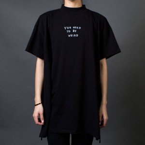 Lazy Oaf Women Used To Be Weird Tee (black) 1S