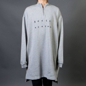 Lazy Oaf Women Boring Zip Up Sweater Dress (gray) 1S