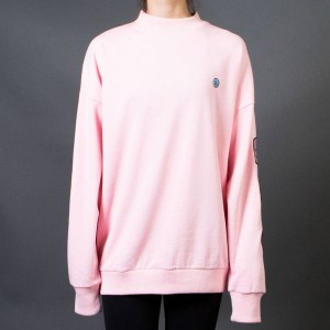 Lazy Oaf Women Moody Faces Sweater (pink) 1S