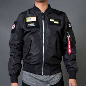 Alpha Industries Men L2B Flex Flight Reversible Jacket (black)