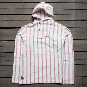 10 Deep Men Sandstone Poncho Hoody (white / red)