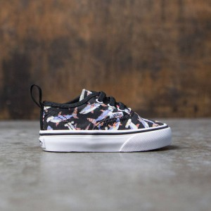 Vans Toddlers Authentic V Lace - Pizza Sharks (black / true white)