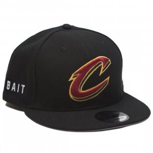 BAIT x NBA X New Era 9Fifty Cleveland Cavaliers Alt Black Snapback Cap (black)