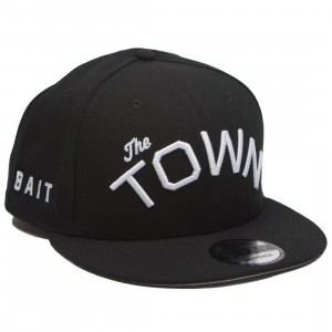 BAIT x NBA X New Era 9Fifty Golden State Warriors Town Black Snapback Cap (black)
