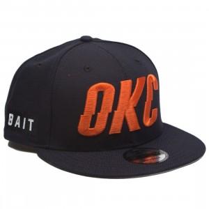 BAIT x NBA X New Era 9Fifty Oklahoma City Thunder Alt OTC Snapback Cap (navy)