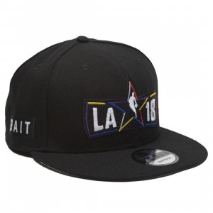 BAIT x NBA X New Era 9Fifty NBA All Star Game Alt Black Snapback Cap (black)