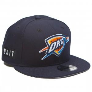 BAIT x NBA X New Era 9Fifty Oklahoma City Thunder OTC Snapback Cap (navy)
