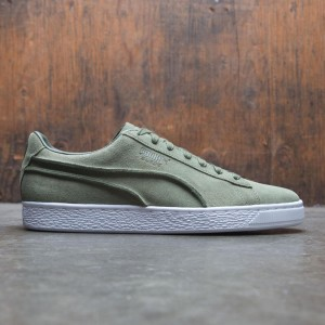 Puma Men Suede Classic - Exposed Seams (olive)
