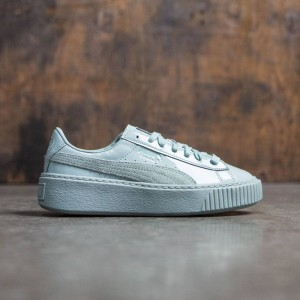 Puma Women Basket Platform - Patent Leather (blue / blue surf)
