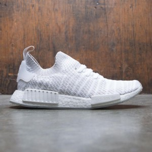 Adidas Men NMD R1 STLT Primeknit (white / grey one / solar pink)