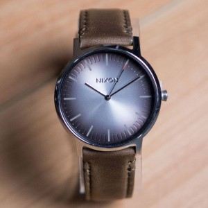 Nixon Porter Leather Watch (brown / ombre / taupe)