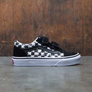 Vans x Peanuts Big Kids Old Skool V - Snoopy (black / checkerboard)