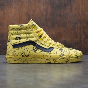 240c3afc028 Vans x Peanuts Men SK8-Hi Reissue - Charlie Brown (black   yellow maize