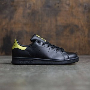 Adidas Big Kids Stan Smith (black / core black / gold metallic)