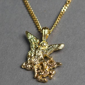 Veritas Aequitas Archangel Necklace (gold)