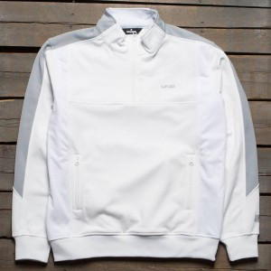 Undefeated Men 5 Strike Half Zip Jacket (white)