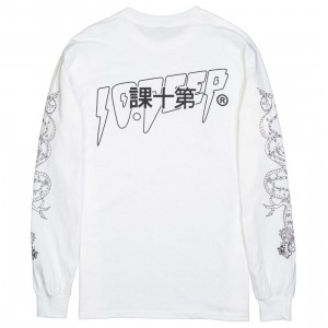 10 Deep Men Kanji Long Sleeve Tee (white)