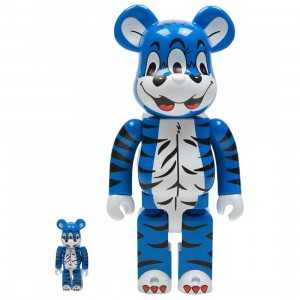 Medicom Kidill Bear 100% 400% Bearbrick Figure Set (blue)
