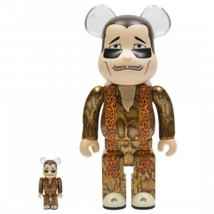 Medicom Piko Taro 100% 400% Bearbrick Figure Set (gold)