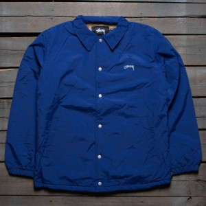 Stussy Men Smooth Stock Coaches Jacket (navy)