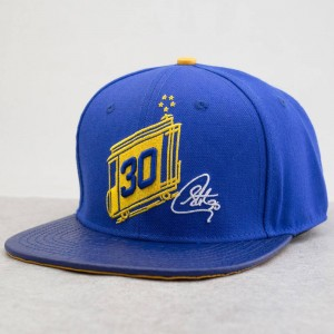 Pro Standard x NBA Golden State Warriors Trolley Leather Brim Cap (blue / royal)