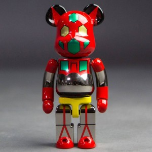 Medicom Super Alloyed Getter Robot Getter 1 200% Bearbrick Figure (red)