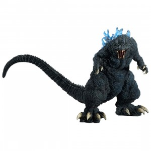 X-Plus Gigantic Series Godzilla 2001 GMK Blue Dorsal Fin Emission Image Version Figure (gray)