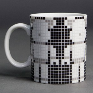 Medicom Toy 20th Anniversary Bearbrick Tile Procelain Mug Cup (black)