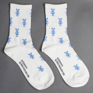 Medicom Toy Women 20th Anniversary Bearbrick Pixel Socks (white) 1S