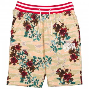 Billionaire Boys Club Men Hidden Floral Shorts (white / eggnog)