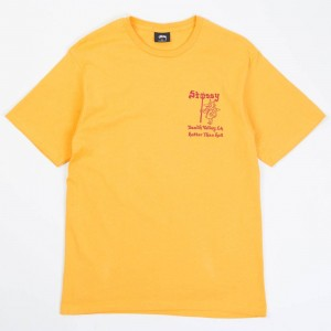 Stussy Men Hotter Than Hell Tee (yellow / mustard)