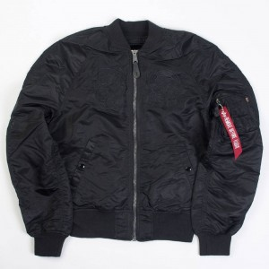 Alpha Industries Men MA-1 Souvenir Shinto Reversible Jacket (black)