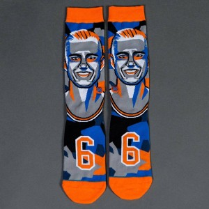 Stance x NBA Men Mosaic Porzingis Socks (orange)