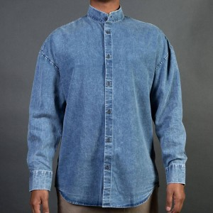 Zanerobe Men Band Rugger Shirt (denim / washout)