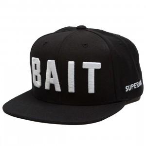 BAIT Logo Snapback Cap (black / white)