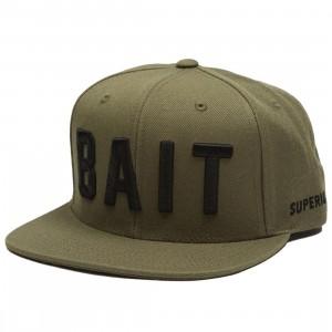 BAIT Logo Snapback Cap (olive / black)