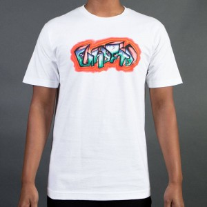 Undefeated Men Airbrush Tee (white)