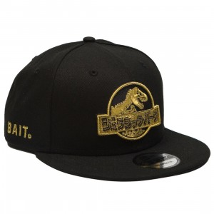 BAIT X Jurassic Park x New Era Damage Control Snapback Cap (black / gold)