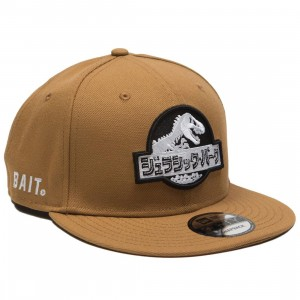 BAIT x Jurassic Park x New Era Damage Control Cap (brown / white)