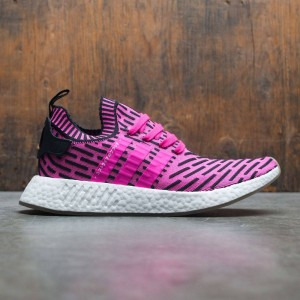 Adidas Men NMD R2 Primeknit (pink / shock pink / core black)