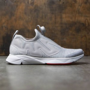 Reebok Men Pump Supreme Hoodie (gray / zinc / white / china red / awesome blue)