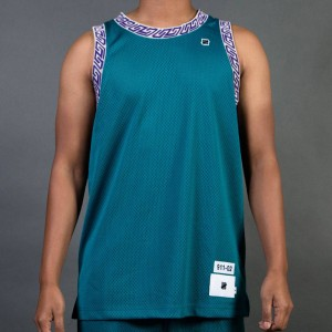 Undefeated Men Authentic Basketball Jersey (teal / green)
