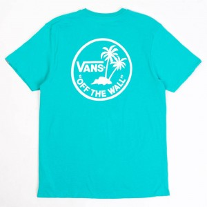 Vans Men Mini Dual Palm Tee (teal / white)