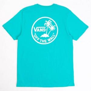 Vans Men Mini Dual Palm Tee (teal / white)