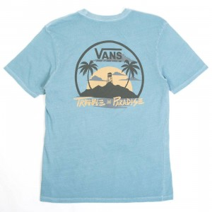 Vans Men Troubled Pocket Tee (blue / larkspur)