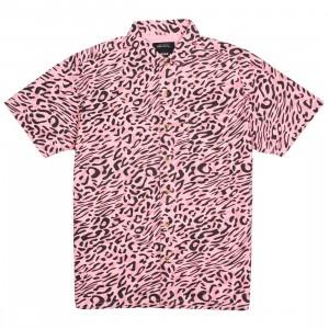 10 Deep Men South Beach Button Up Shirt (pink)