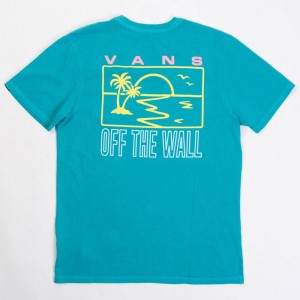 Vans Men Sky Eye Pocket Tee (blue / tile)