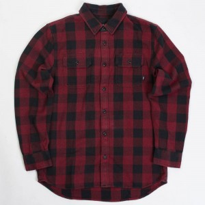 Vans Men Wisner Flannel Shirt (red / chilli pepper)