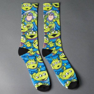 Vans x Disney Toy Story Crew Socks - Aliens (blue / green)