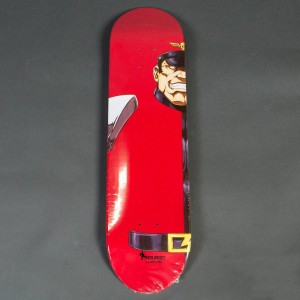 NSURGO x Street Fighter Bison Skateboard Deck Limited Edition (red)